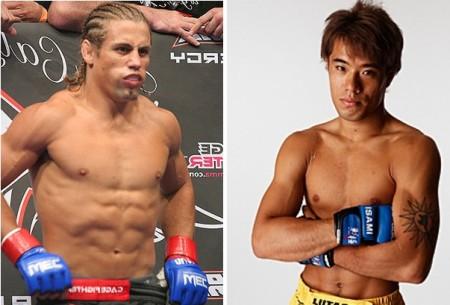 U. Faber (esq.) encara M. Kanehara (dir.) no UFC Japão 2014. Foto: Produção Super Lutas (UFC/Divulgação)