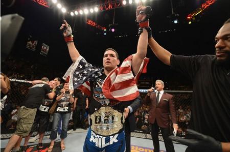 Weidman (foto) enfrentará Belfort em sua próxima luta. Foto: Josh Hedges/UFC