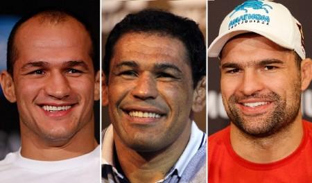 Cigano (esq.), Minotauro (centro) e Shogun (dir.) vão participar de ação social em SP. Foto: Produção SUPER LUTAS (UFC/Divulgação)