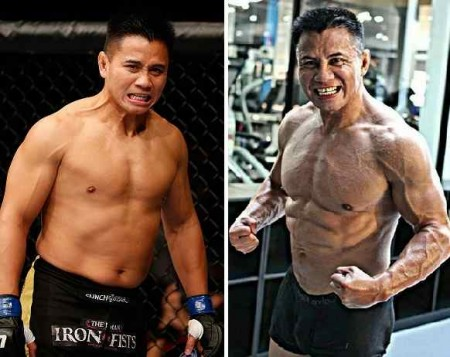 Comparação entre C. Le em 2011 (esq.) e 2014 (dir.) levantou suspeitas. Foto: Produção SUPER LUTAS (UFC/Instagram)