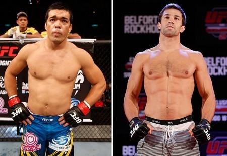 Lyoto (esq.) e Rockhold (dir.) ocupam, respectivamente, a segunda e a quinta posição no ranking peso médio. Foto: Produção Super Lutas (UFC/Divulgação)