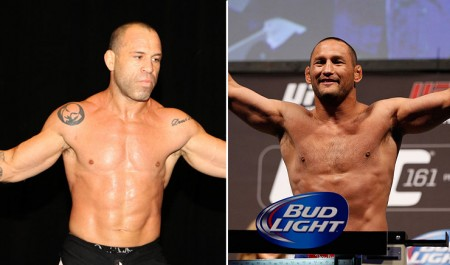 Wanderlei (esq.) e Henderson (dir.) já se enfrentaram duas vezes. Foto: Produção Super Lutas (UFC/Divulgação)