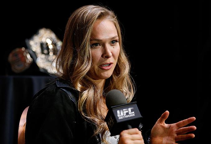 Ronda (foto) mostrou ser admiradora de McGregor. Foto: Josh Hedges/Zuffa LLC