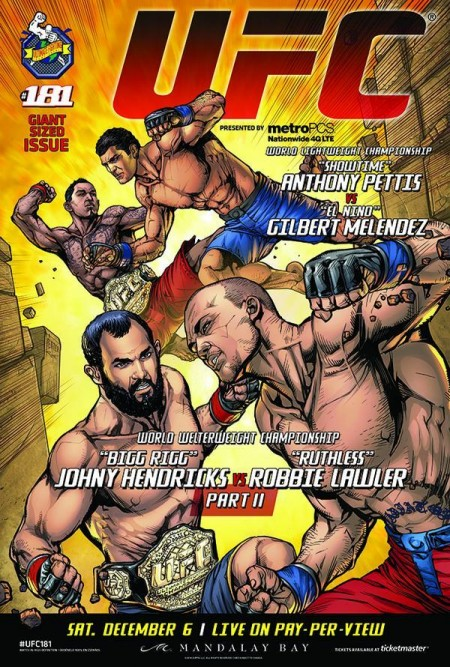 Versão completa do pôster do UFC 181. Foto: Reprodução/Twitter