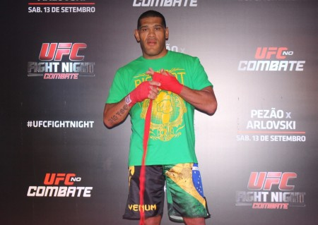 Pezão durante os treinos abertos do UFC FN 51. Foto: Lucas Carrano/SUPER LUTAS