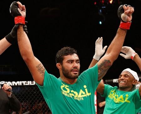 R. Sapo (foto) se recuperou após duas derrotas consecutivas no octógono. Foto: Josh Hedges/UFC