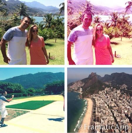 Minotauro e Ronda visitam a Ilha de Caras, no Rio de Janeiro. Foto: Reprodução/Instagram