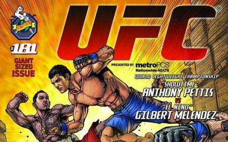 Pôster do UFC 181 com assinatura da DC Comics. Foto: Reprodução/Twitter