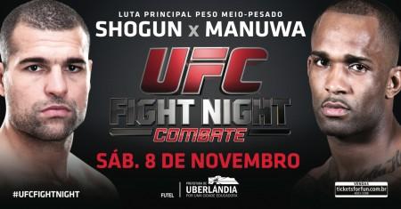 Shogun e Manuwa fazem a luta principal do UFC Uberlândia. Foto: Divulgação/UFC