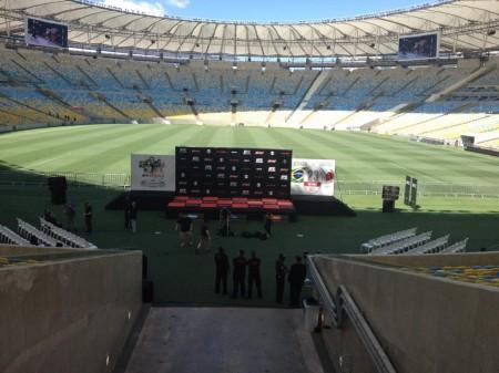 Maracanã foi aberto nesta quinta para os treinos abertos do UFC Rio. Foto: Reprodução