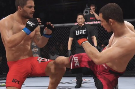 Mendes e Aldo já fizeram a revanche no Rio - pelo menos no videogame. Foto: Reprodução