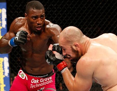 Davis (esq.) dominou Glover (dir.) no UFC Rio. Foto: Divulgação/UFC