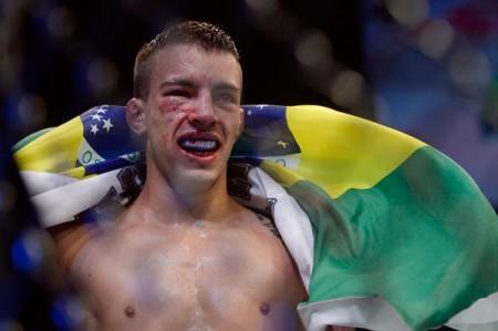 T. Almeida fez a melhor luta do card preliminar no UFC Uberlândia. Foto: Inovafoto