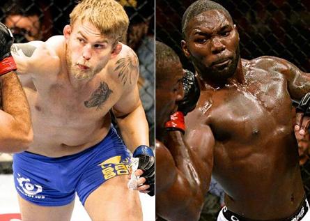 Gustafsson (esq.) e Johnson (dir.) se enfrentam em Janeiro. Foto: Produção MMA Press (Divulgação/UFC)