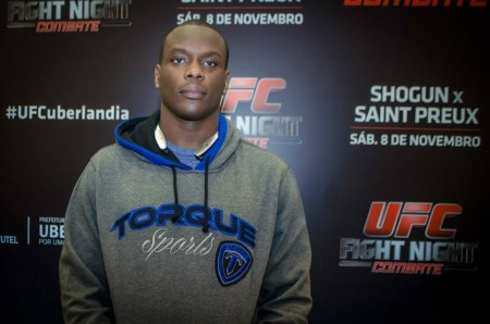 St. Preux (foto) enfrentará Shogun em Uberlândia. Foto: Divulgação/UFC
