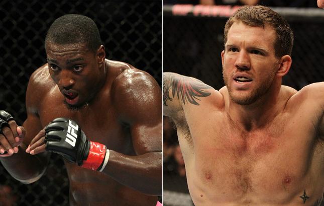 Davis (esq.) e Bader (dir.) se enfrentarão em janeiro. Foto: Produção MMA Press (Divulgação/UFC