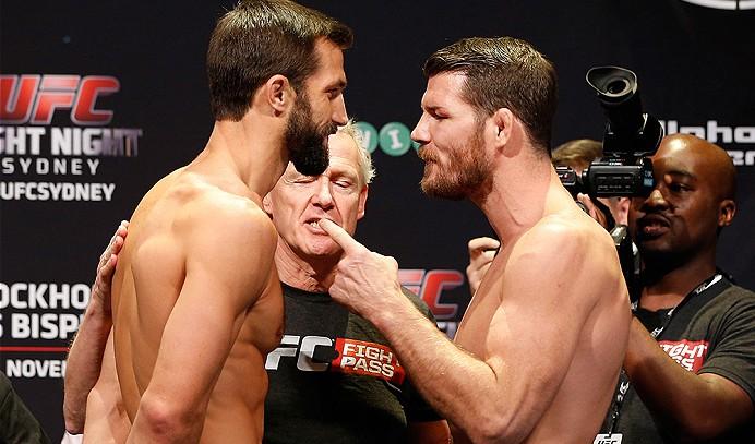 Rockhold (esq.) e Bisping (dir.) fazem revanche no UFC 199. Foto: Divulgação/UFC