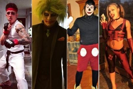 Videogames, quadrinhos e super-heróis foram alguns dos temas escolhidos pelos lutadores em suas fantasias. Foto: Produção SUPER LUTAS (Reprodução)