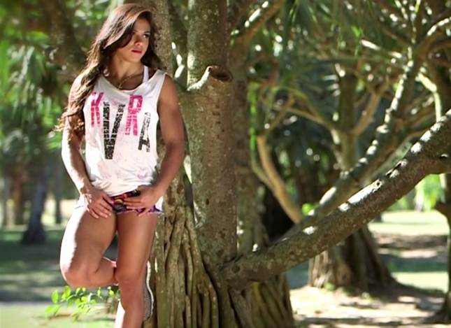 Claudinha em ensaio fotográfico no Rio. Foto: Reprodução