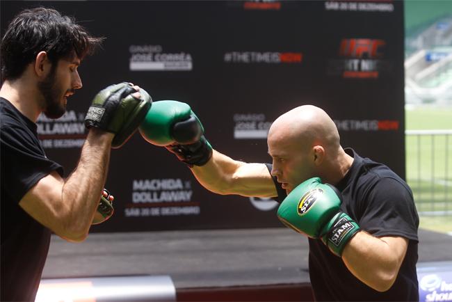 Adversário de Barão, Gagnon participa dos treinos abertos do UFC Barueri. Foto: William Lucas - Inovafoto/UFC