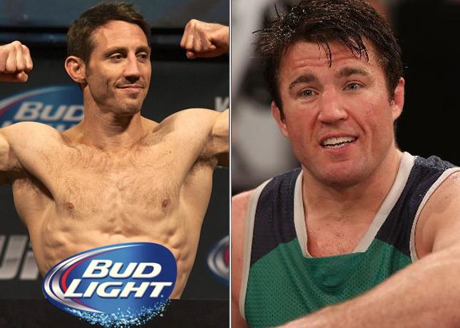 Kennedy (esq.) e Sonnen (dir.) trocaram farpas. Foto: Produção MMA Press (Divulgação/UFC)