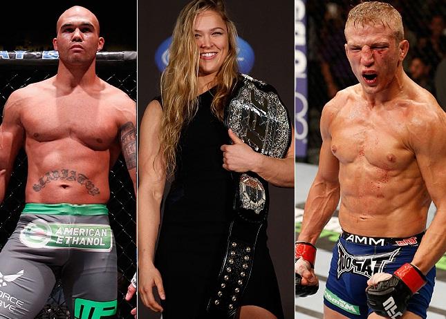 Lawler, Ronda e TJ estão entre os melhores de 2014 para o SUPER LUTAS. Foto: Produção SUPER LUTAS (Josh Hedges/UFC)