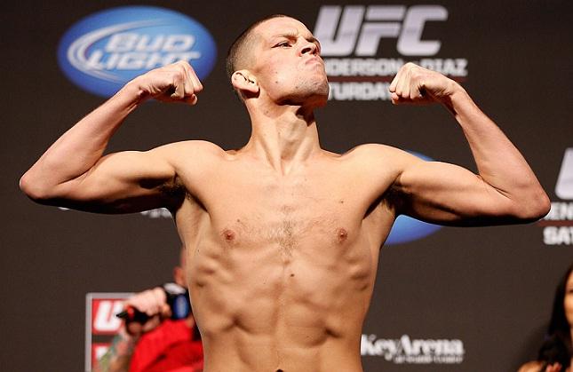 N. Diaz (foto) faz a luta co-principal do UFC on FOX 13. Foto: Josh Hedges/UFC
