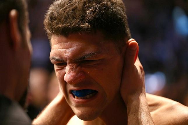 N. Diaz (foto) encara A. Silva no UFC 183. Foto: Josh Hedges/UFC