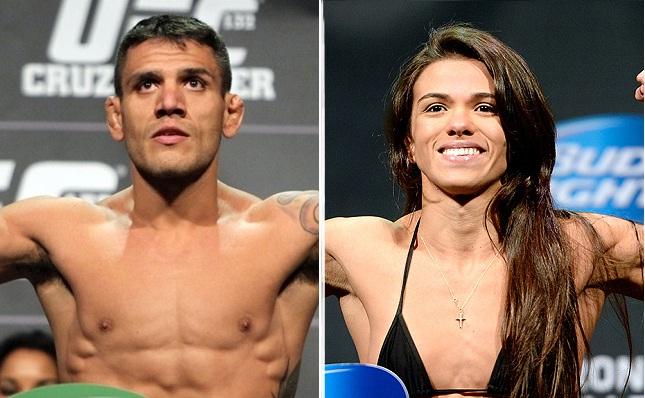 R. dos Anjos (esq.) e C. Gadelha (dir.) apareceram bem no novo ranking oficial. Foto: Produção SUPER LUTAS (Josh Hedges/UFC)