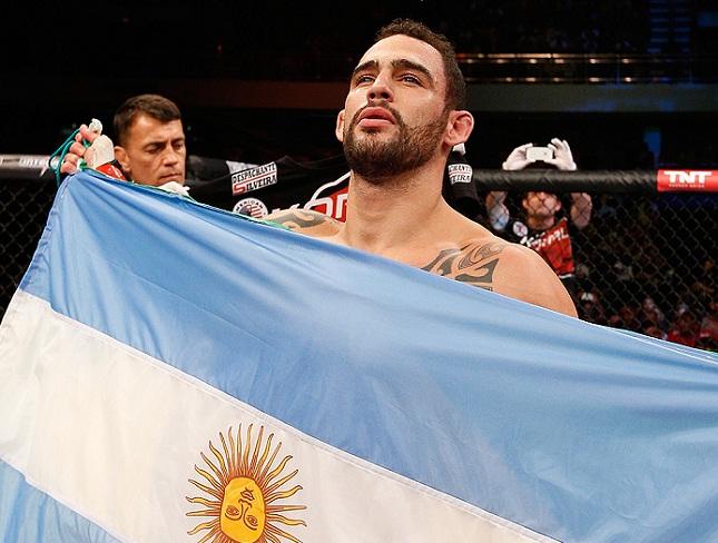 S. Ponzinibbio (foto) fará sua terceira luta no UFC. Foto: Josh Hedges/UFC
