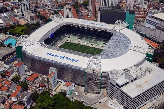 Novo estádio do Palmeiras sediou recentemente treino aberto do UFC. Foto: Divulgação