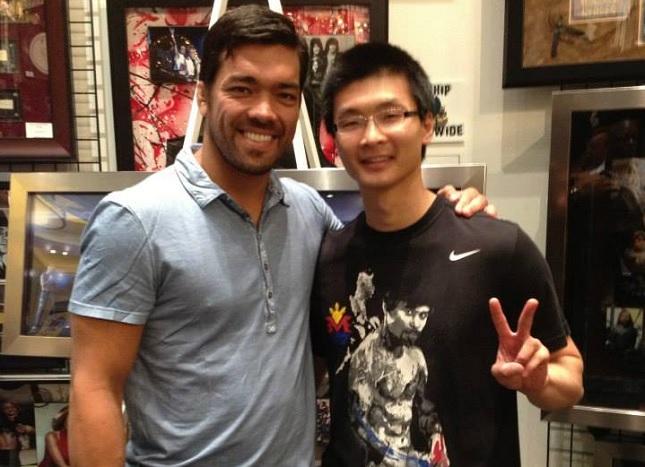 """""""Finalmente!"""", comentou Chow em maio deste ano após conhecer Machida. Foto: Arquivo Pessoal"""