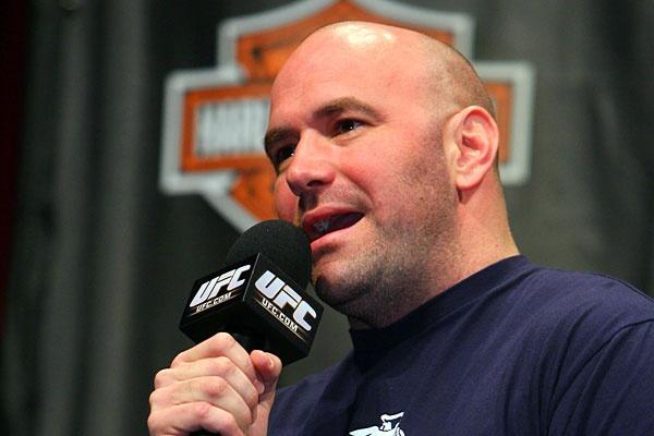 D. White (foto) falou sobre o novo contrato com a Reebok e as mudanças no ranking. Foto: Josh Hedges/UFC