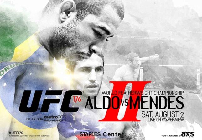 O pôster do jamais realizado UFC 176. Foto: Divulgação