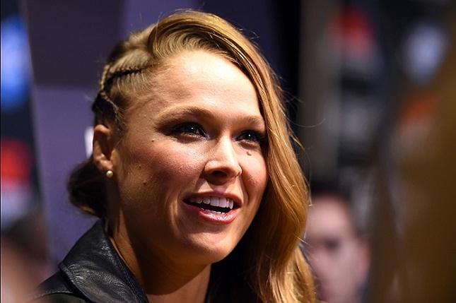 Ronda fará papel principal de filme. Foto: Josh Hedges/UFC