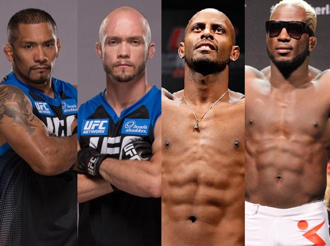 Serrano, Syler, Kevin e Blade (na ordem) foram confirmados no UFC FN Rio. Foto: Produção SUPER LUTAS (UFC/Divulgação)