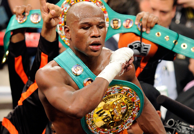 Mayweather tem cartel invicto no boxe profissional. Foto: Divulgação
