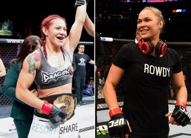Cyborg (esc) fez novo desafio a Ronda. Foto: Produção SUPER LUTAS (Divulgação/Invicta/UFC)
