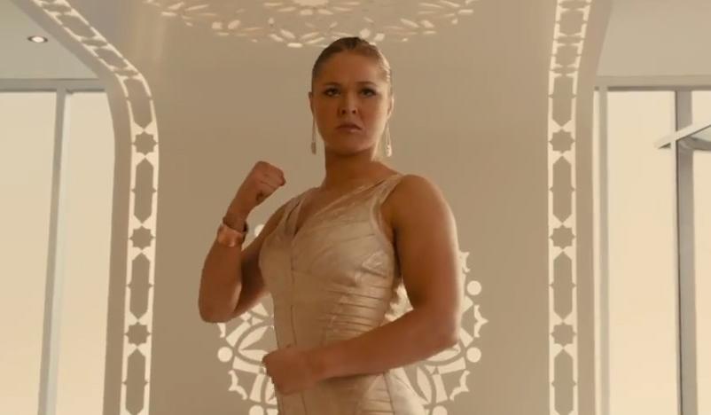 R. Rousey (foto) é destaque em making of de filme. Foto: Reprodução