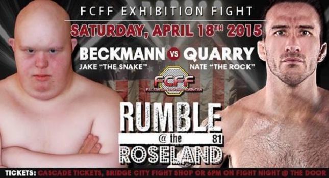 """Pôster promocional da """"luta"""" entre Beckmann e Quarry. Foto: Reprodução"""