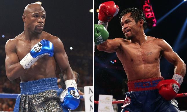 Mayweather (esq.) e Pacquiao (dir.) farão milionário duelo de boxe em maio. Foto: Reprodução