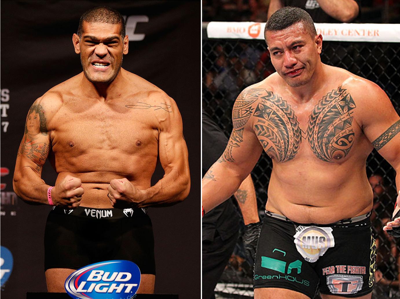 Pezão (esq.) e Palelei (dir.) se enfrentarão no Rio. Foto: Produção SUPER LUTAS (Divulgação/UFC)
