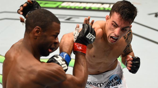 Thominhas (foto) derrotou Jabouin no UFC 186. Foto: Divulgação/UFC