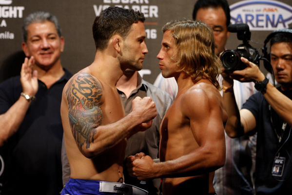 Edgar (esq.) e Faber (dir.) fazem a luta principal da noite. Foto: Divulgação/UFC