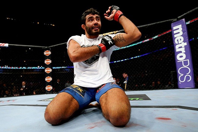 Sapo (foto) chegou a três vitórias consecutivas. Foto: Josh Hedges/UFC