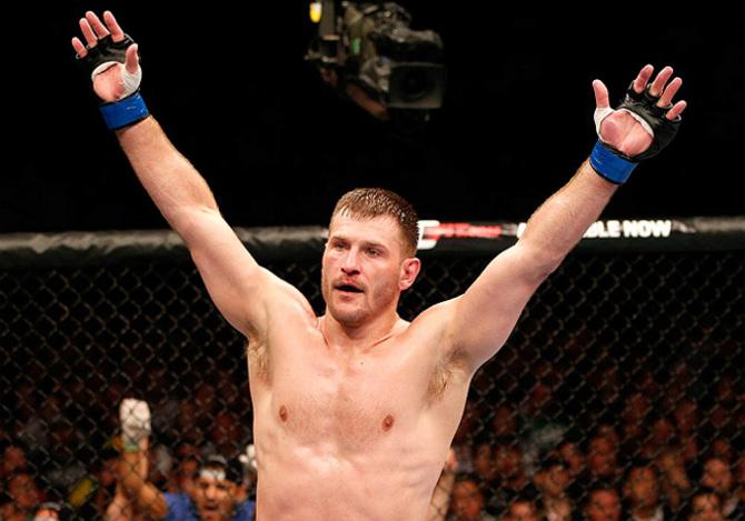 Miocic (foto) quebrou o recorde de número de golpes desferidos no UFC