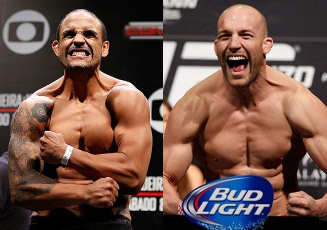 Feijão (esq.) vem de derrota, assim como Cummins (dir.). Foto: Produção SUPER LUTAS (Josh Hedges/UFC)