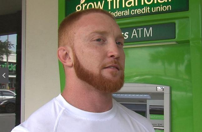 Eric Haritakis capturou um suspeito de vários assaltos a banco na região de Tampa Bay. Foto: Reprodução