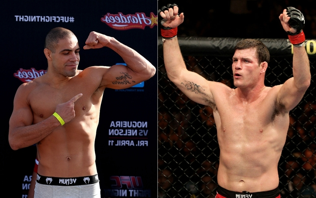 T. Leites (esq.) e M. Bisping (dir.): duelo Brasil x Reino Unido em Glasgow. Foto: Produção SUPER LUTAS (Josh Hedges/UFC)