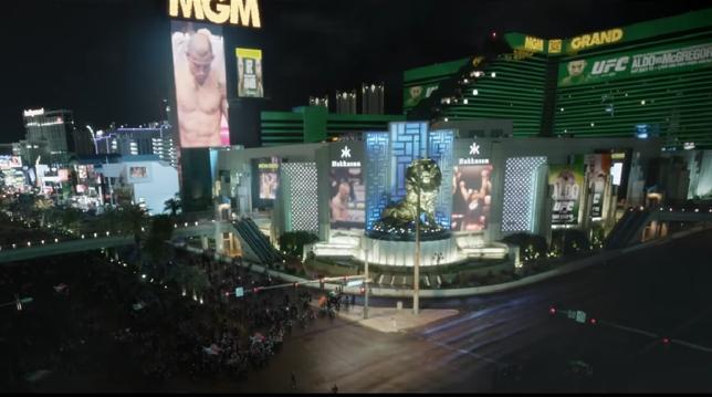 Ruas de Las Vegas foram palco do eletrizante trailer do UFC 189. Foto: Reprodução